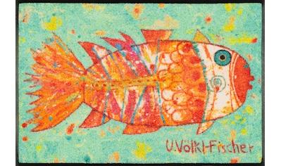 wash+dry by Kleen-Tex Fußmatte »Funky Fish«, rechteckig, 7 mm Höhe, Schmutzfangmatte,... kaufen