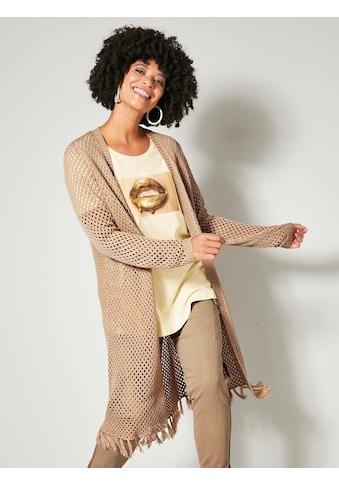 Angel of Style by HAPPYsize Longstrickjacke, mit Fransen am Saum kaufen