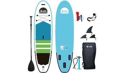 X4-Life SUP-Board »Stand Up Paddle Board mit Zubehör«, (Set, 9 tlg., mit Paddel, Pumpe... kaufen