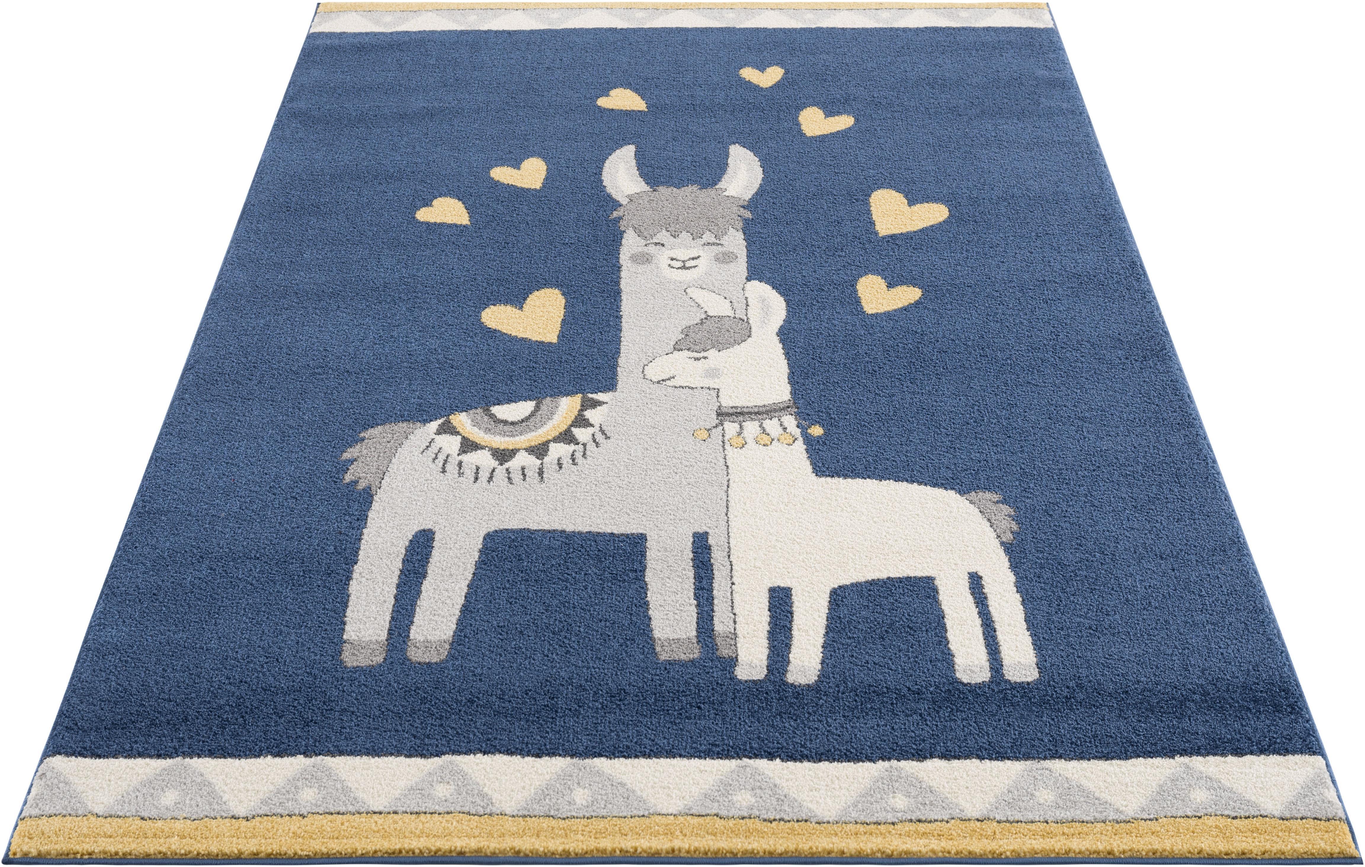 Kinderteppich, Lamas, Lüttenhütt, rechteckig, Höhe 14 mm, maschinell gewebt | Kinderzimmer | Lüttenhütt