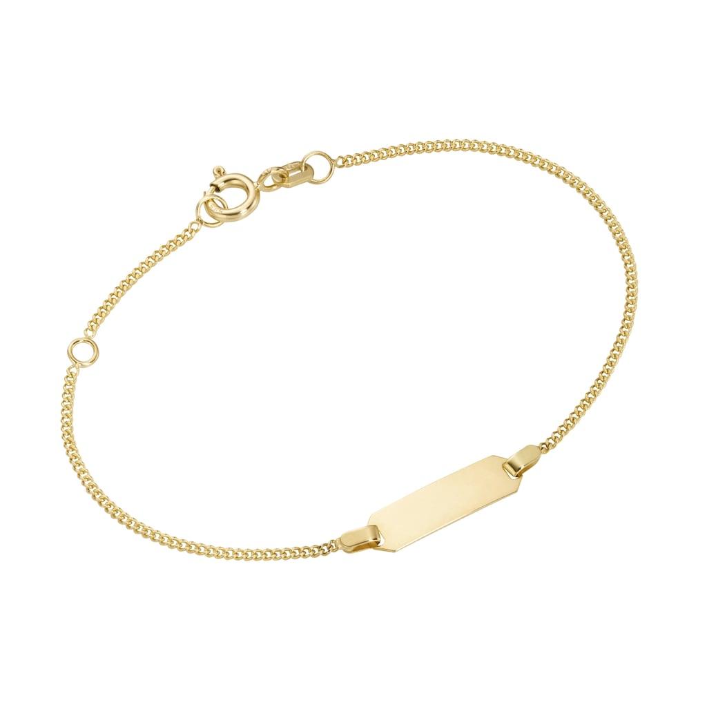 Luigi Merano Armband »mit Identy Plättchen für Kinder, Gravur, Name, Gold 585«
