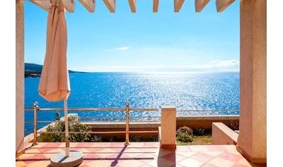 PAPERMOON Fototapete »Terrace with a Sea View«, Vlies, in verschiedenen Größen kaufen