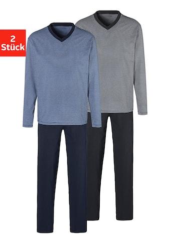 le jogger® Pyjama, (2 Stück), gerngefärbter Streifen kaufen