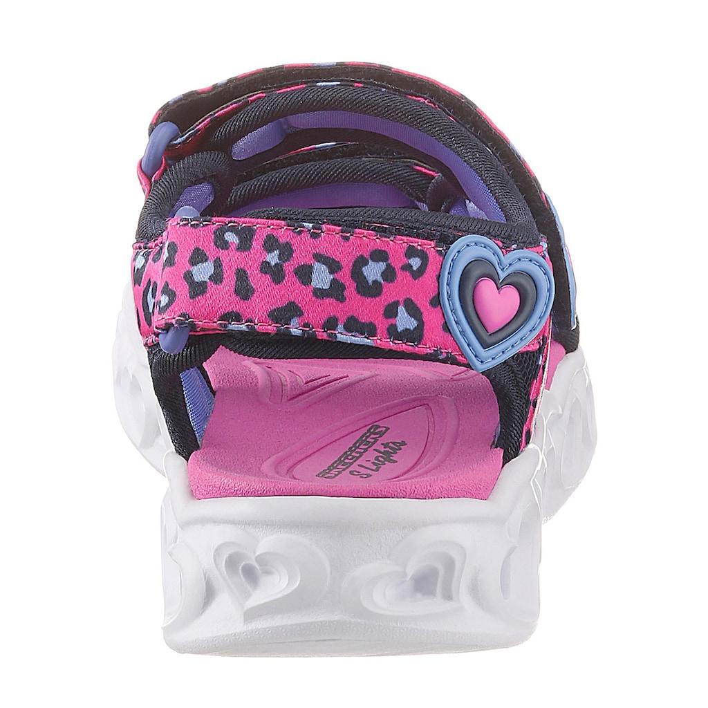 Skechers Kids Sandale »Blinkschuh Heart Lights Sandals«, mit cooler Blinkfunktion