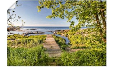 Artland Wandbild »Der Weg zum Meer auf Bornholm«, Küstenbilder, (1 St.), in vielen... kaufen