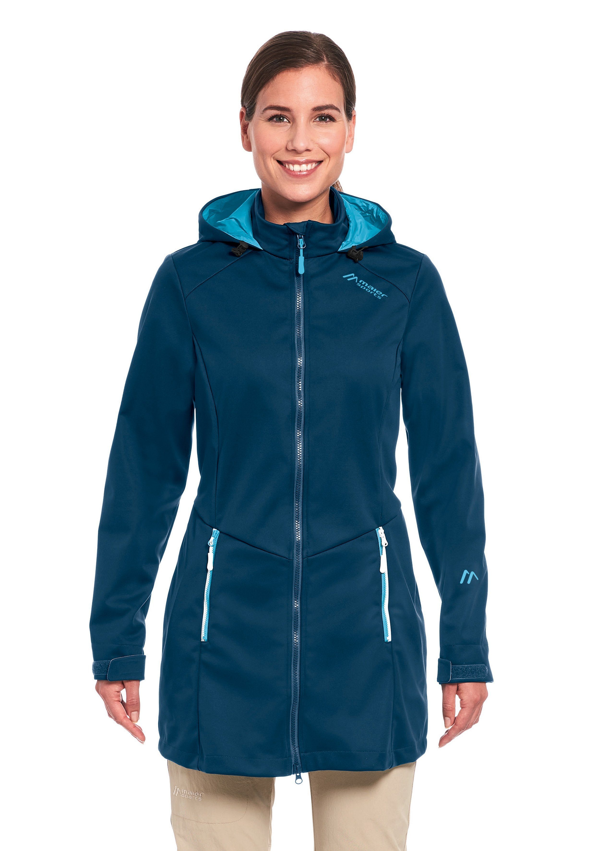 Maier Sports Softshellmantel Samum Coat W   Sportbekleidung > Sportmäntel > Softshellmäntel   Blau   maier sports