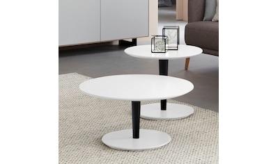 SCHÖNER WOHNEN-Kollektion Couchtisch »DIMARO«, in runder Form, Höhe 45 cm, Füße Holz... kaufen