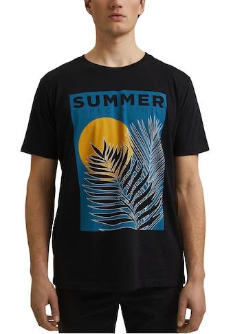 edc by Esprit T-Shirt, mit großem Frontprint kaufen