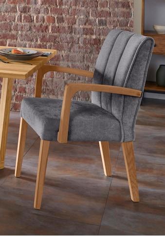 Premium collection by Home affaire Armlehnstuhl »Nora Premium 2«, Gestell aus Massivholz kaufen