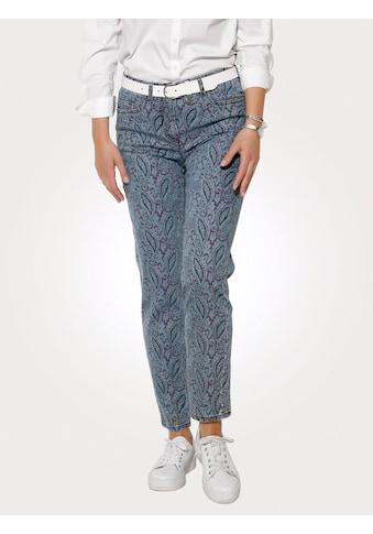 Mona 5-Pocket-Jeans, in modischer Used-Optik kaufen