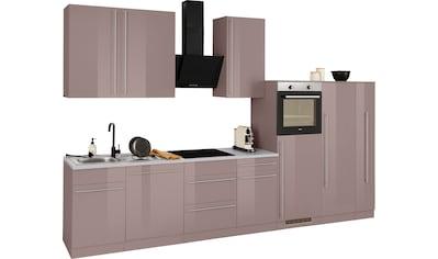 wiho Küchen Küchenzeile »Chicago«, mit E-Geräten, Breite 360 cm kaufen