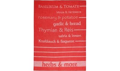 stuco Geschirrtuch »Herbs&More - Jacquard« kaufen