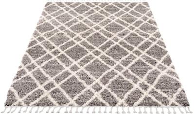 Carpet City Hochflor-Teppich »Pulpy 540«, rechteckig, 30 mm Höhe, mit Fransen, Wohnzimmer kaufen