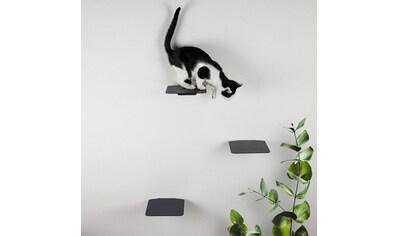LucyBalu Katzen-Kletterwand »STEPS«, hoch, 3 Stk., BxT: je 18x18 cm, mit Korkauflage kaufen