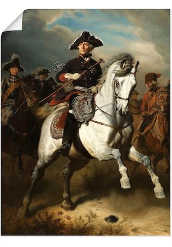 Artland Wandbild »Friedrich der Große zu Pferde. 1861«, Menschen, (1 St.), in vielen... kaufen