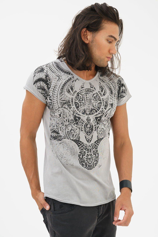 trueprodigy T-Shirt Maori Cltre | Bekleidung > Shirts > Sonstige Shirts | Grau | Trueprodigy