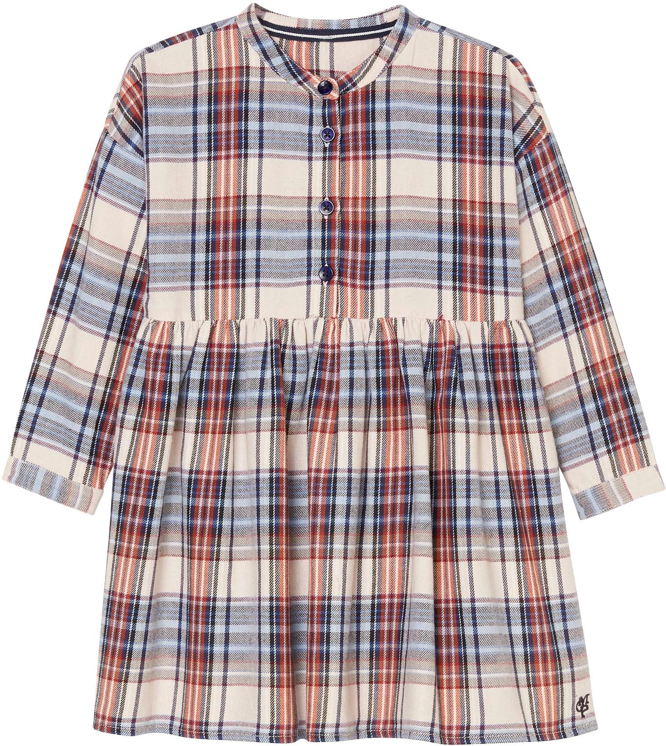 Marc O'Polo Junior Karokleid bunt Mädchen Langarm Kleider Mädchenkleidung