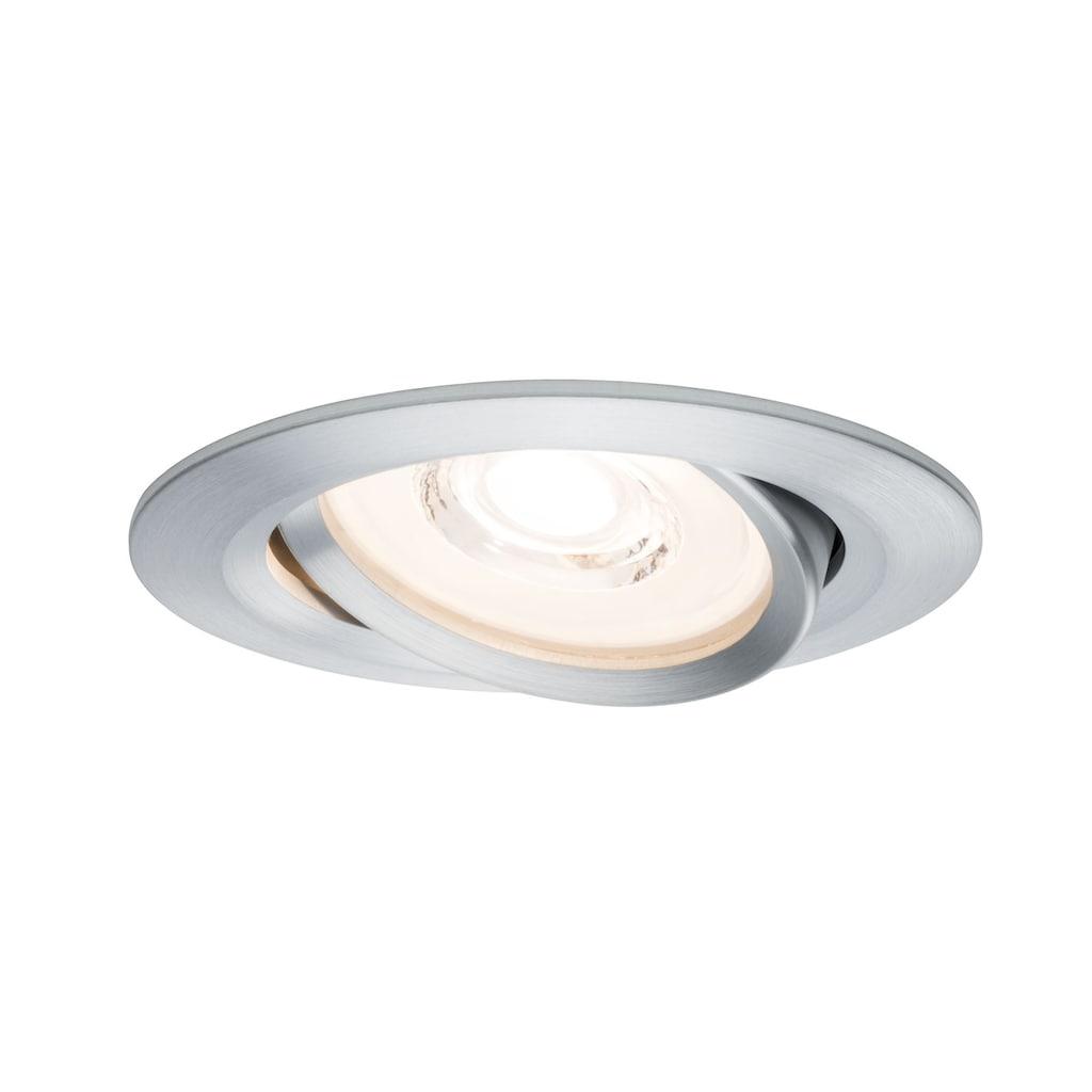 Paulmann LED Einbaustrahler »dimmbar IP23 Alu 6,8W Reflector Coin schwenkbar Reflector Coin schwenkbar«, 3 St., Warmweiß