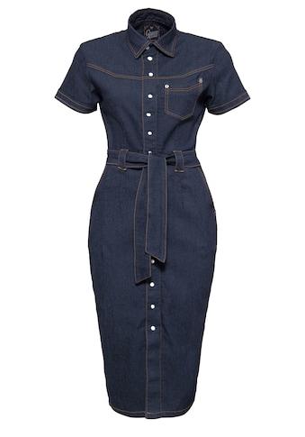 QueenKerosin Jeanskleid, in Vintage-Optik kaufen