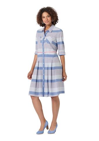 Casual Looks Hemdblusenkleid im hochwertig garngefärbten Streifendessin kaufen