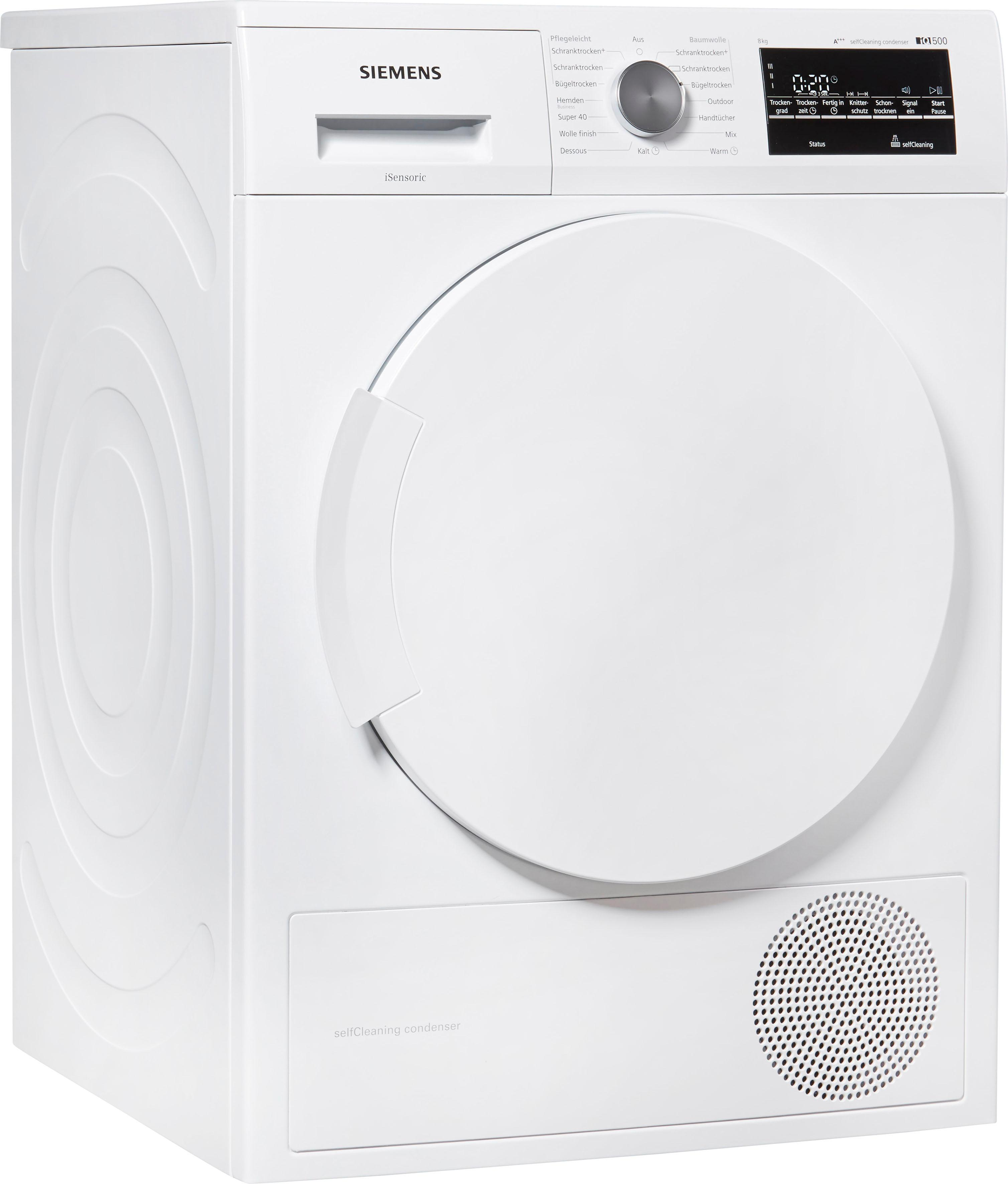 SIEMENS Wärmepumpentrockner IQ500 WT45W4ECO 8 kg | Bad > Waschmaschinen und Trockner > Wärmepumpentrockner | Weiß | Siemens