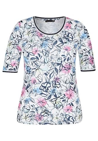 Thomas Rabe Shirt mit Allover-Print und Kontrastverarbeitung kaufen