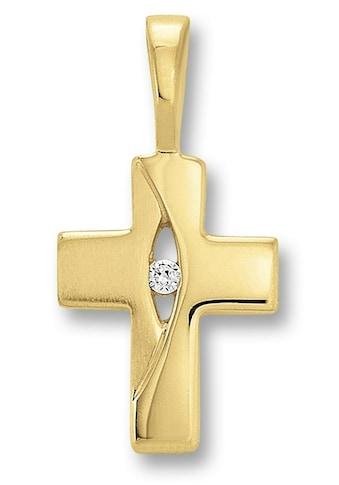 ONE ELEMENT Kreuzanhänger »Kreuz Anhänger aus 333 Gelbgold Zirkonia« kaufen