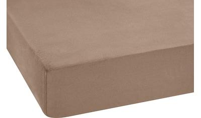 SETEX Spannbettlaken »GOTS Feinbiber Spannbettlaken«, aus zertifizierter Bio-Baumwolle kaufen