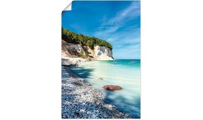 Artland Wandbild »Kreidefelsen auf der Insel Rügen III«, Küste, (1 St.), in vielen... kaufen