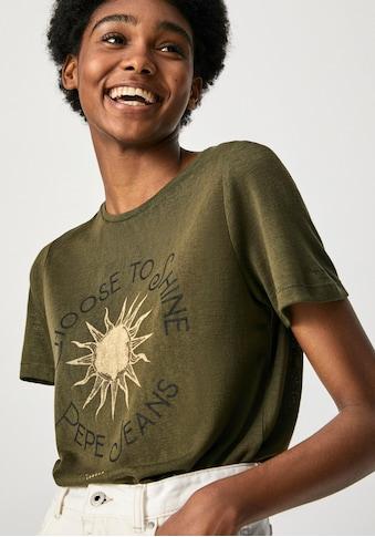"""Pepe Jeans Print-Shirt »ASTRID«, mit großem """"Choose to Shine"""" und Logo Frontprint in... kaufen"""