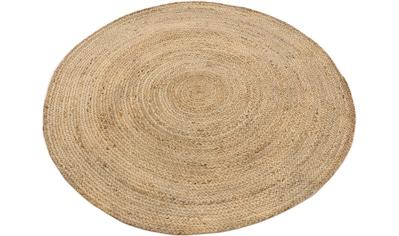 carpetfine Teppich »Nele«, rund, 6 mm Höhe, Wendeteppich 100% Jute in rund und oval, Wohnzimmer kaufen