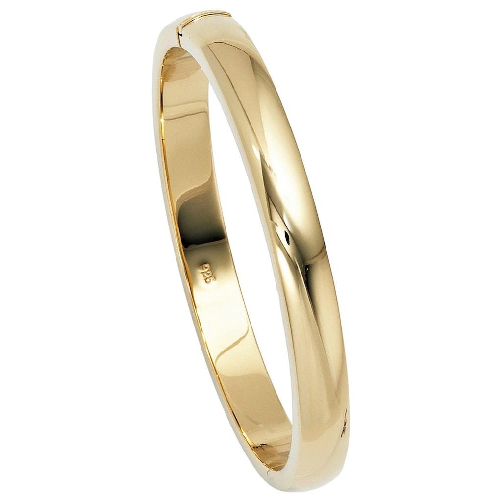 JOBO Armreif, oval 925 Silber vergoldet