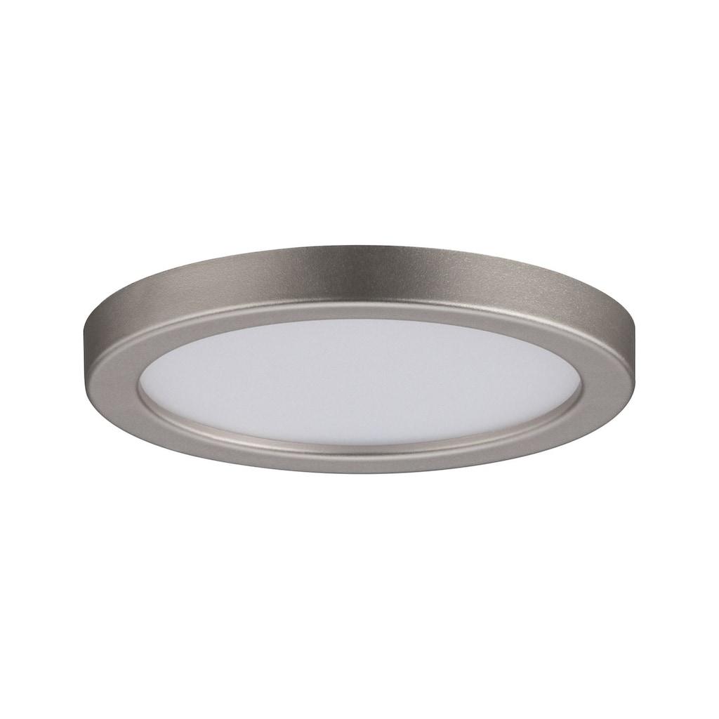 Paulmann LED Einbaustrahler »Panel Areo IP23 rund 80mm 5W 3.000K Nickel matt«, Warmweiß