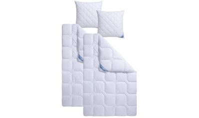 f.a.n. Schlafkomfort Microfaserbettdecke + Kopfkissen »Kansas«, (Spar-Set),... kaufen