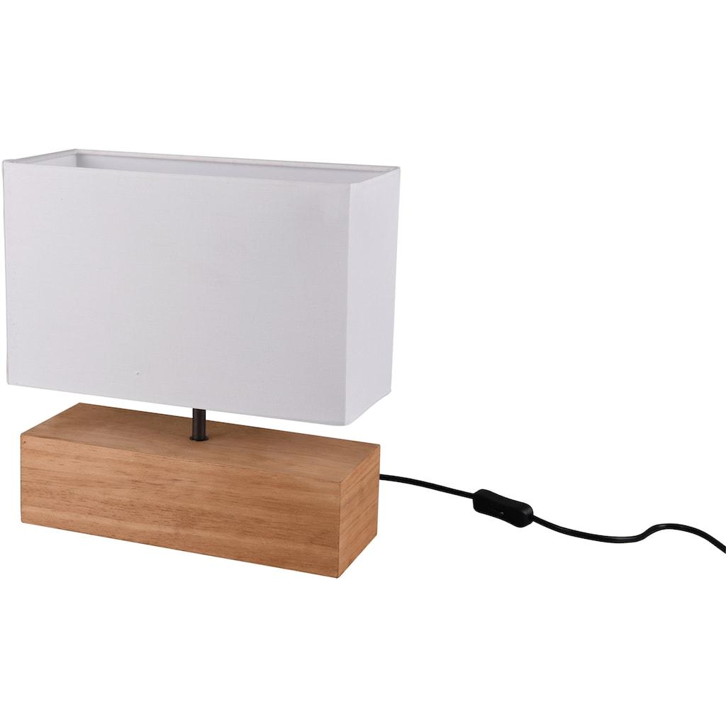 TRIO Leuchten Tischleuchte »Woody«, E27, Schnurschalter, Leuchtmittel tauschbar