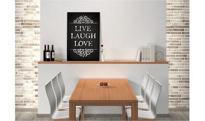 Home affaire Wandbild »Live Laugh Love« kaufen
