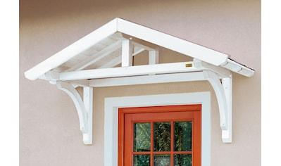 Skanholz Vordach »Stettin«, BxT: 180x80 cm, inkl. roten Dachschindeln kaufen
