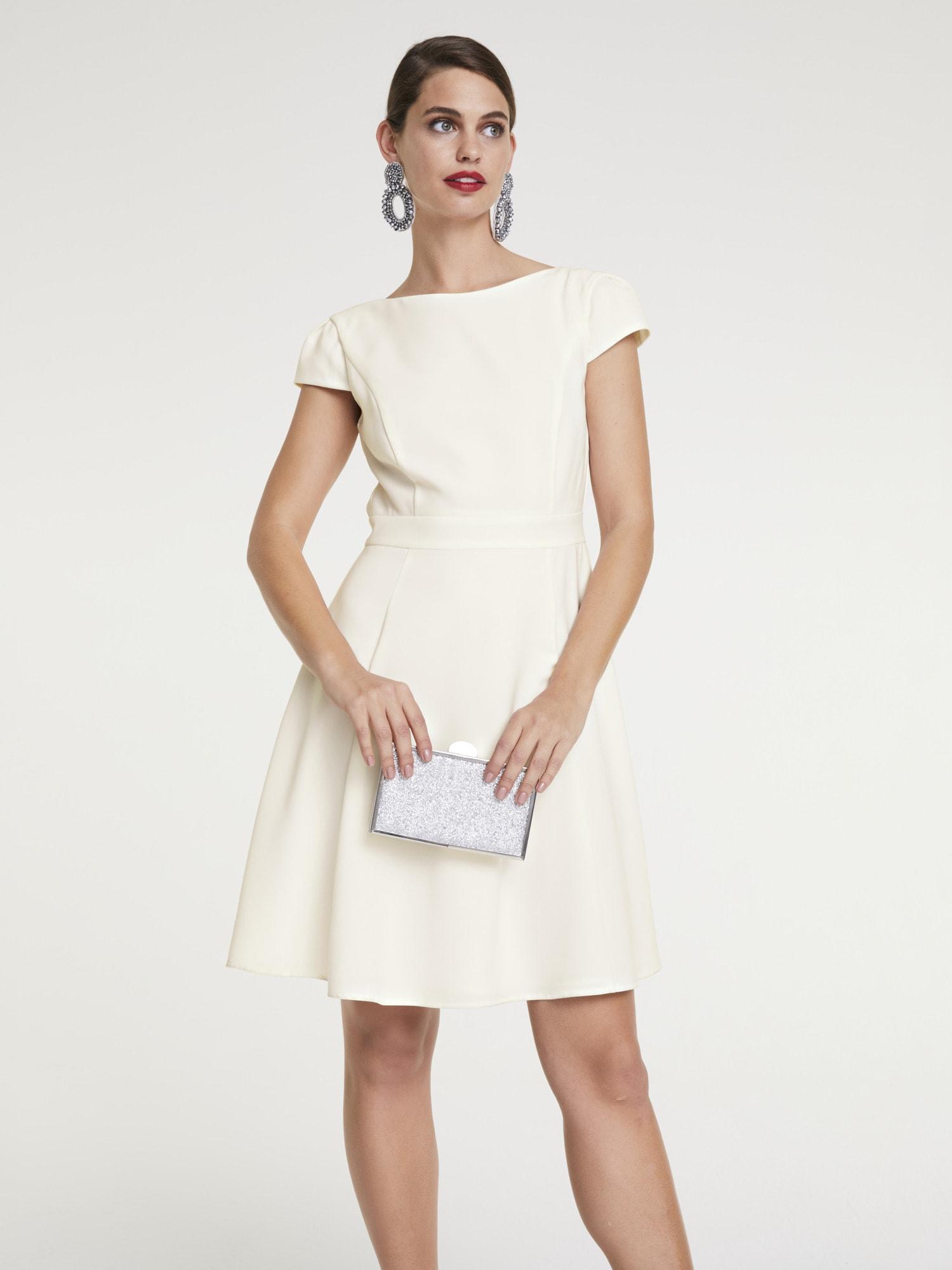 PATRIZIA DINI by Heine Cocktailkleid, tailliert weiß Damen Cocktail- Partykleider Kleider Cocktailkleid