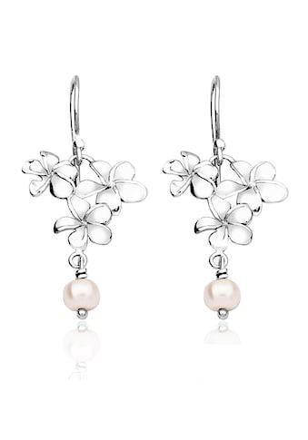 Nenalina Paar Ohrhänger »Ohrhänger Blume Süßwasserzuchtperle 925 Silber« kaufen