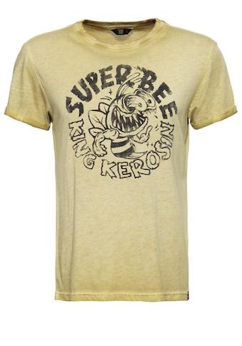 KingKerosin Print-Shirt »Super Bee Monster«, mit Frontprint in Vintage Optik kaufen