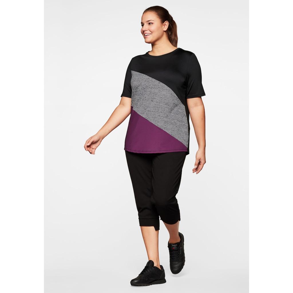 Sheego T-Shirt, mit Colourblocking, atmungsaktiv