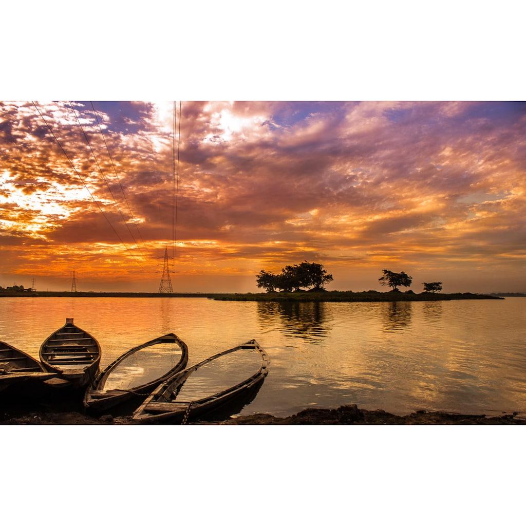 Papermoon Fototapete »Sonnenuntergang in Indien«, Vliestapete, hochwertiger Digitaldruck