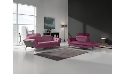 Egoitaliano Polstergarnitur »Sueli«, (Set), Set: bestehend aus Sofa und Recamiere,... kaufen