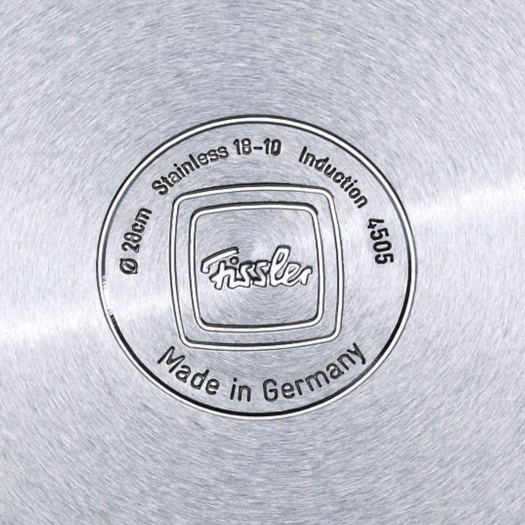Fissler Topf-Set »viseo Topf-Set«, Edelstahl 18/10, (Set, 8 tlg.), Induktionsgeeignet, Edelstahl-Töpfe mit Glasdeckel, backofen-geeignet,Mess-Skala, Made in Germany