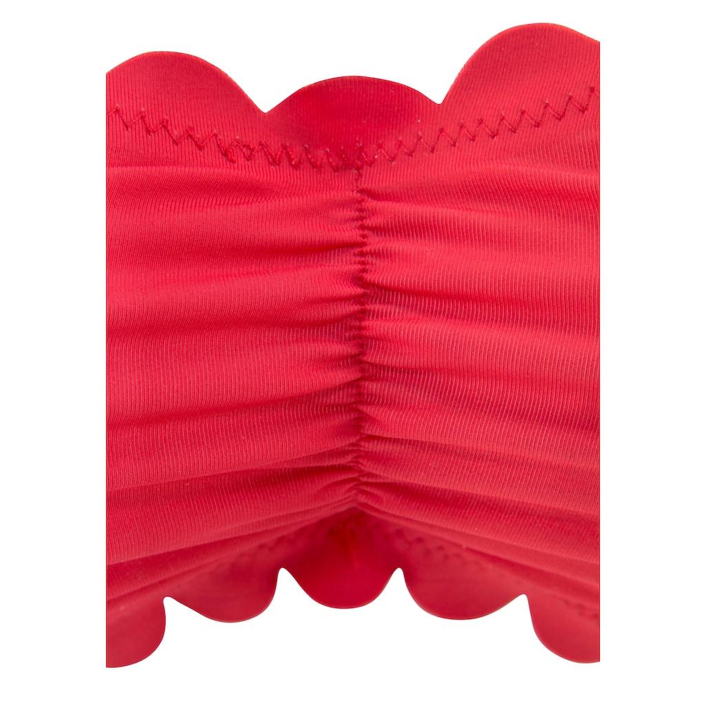 LASCANA Bandeau-Bikini-Top »Scallop«, mit gelaserter Wellenkante