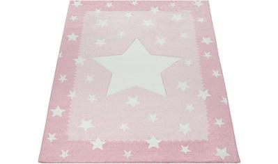 Paco Home Teppich »Ela 398«, rechteckig, 17 mm Höhe, Stern Motiv, mit Bordüre kaufen