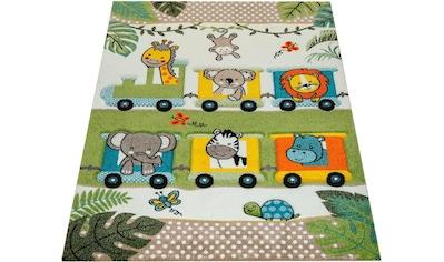 Paco Home Kinderteppich »Diamond 635«, rechteckig, 18 mm Höhe, 3D-Kinder Design mit verspieltem Zootiere Motiv kaufen