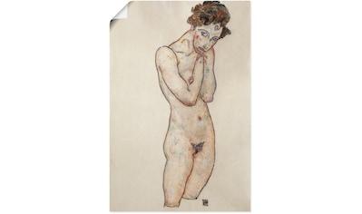 Artland Wandbild »Stehender weiblicher Akt. 1917.«, Frau, (1 St.), in vielen Größen &... kaufen