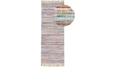 carpetfine Läufer »Kelim Chindi«, rechteckig, 6 mm Höhe, Flachgewebe Wendeteppich mit... kaufen