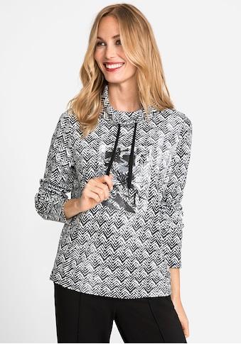 Olsen Sweatshirt, mit Fischgräten Muster kaufen